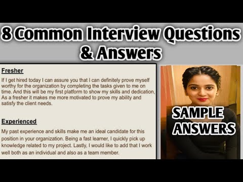 8 Common Interview Questions and Answers For Fresher and ...