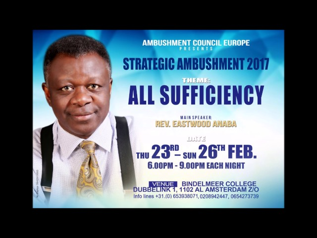Rev Eastwood Anaba All Sufficiency Ambushment Europe 25-02-2017