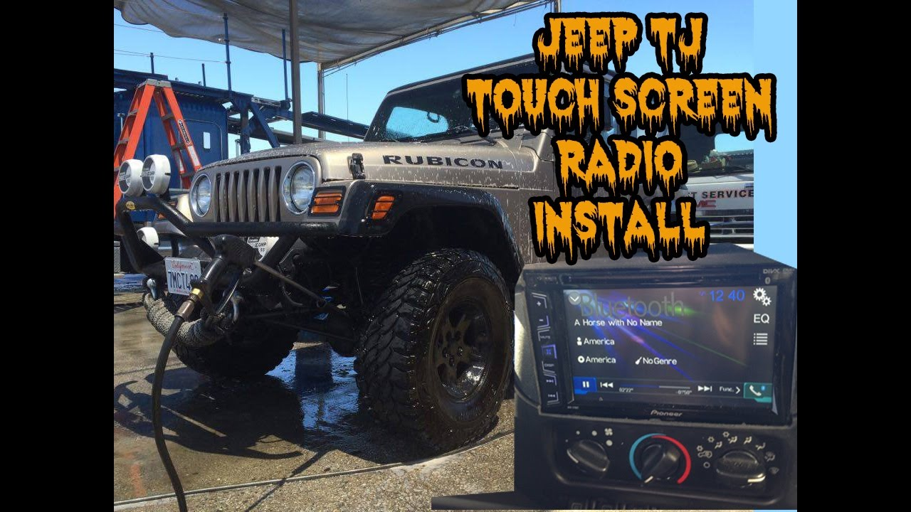 jeep wrangler tj touch screen radio install youtube. Black Bedroom Furniture Sets. Home Design Ideas