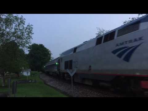 Amtrak Ethan Allen Express #291 at Fair Haven and Castleton, Vermont - 5/29/16