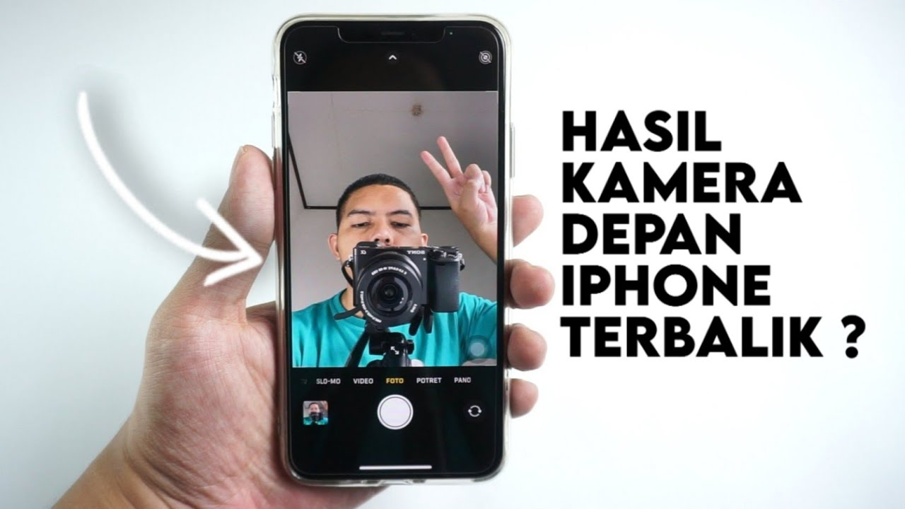 Cara Setting Mirror Camera iPhone - Jepretan Kamera Depan iPhone Terbalik?