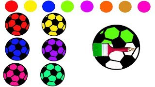 Learn Colors With Soccer Balls Video For Children || Nursery Rhymes Collection For Kids