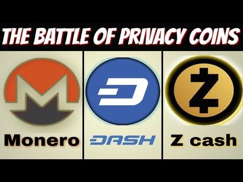 Monero vs Zcash vs Dash ( Privacy Coins )