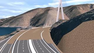 Kömürhan Gergin Eğik Askılı Köprü Projesi - Komurhan Cable-Stayed Bridge