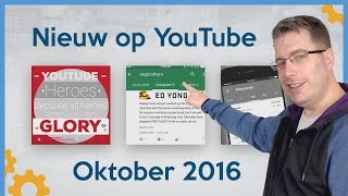 YouTube Heroes, Community Tab en update Creator Studio App - Nieuw op YouTube Oktober 2016