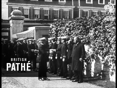 Sir Eric Geddes With Secretary Daniels Visit American Naval Academy (1914-1918)