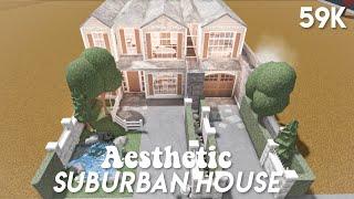 Aeshtetic suburban family house - Bloxburg speedbuild