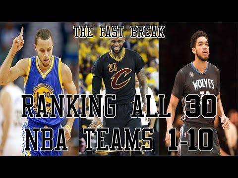 Ranking All 30 NBA Teams 1-10
