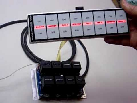 arc 8000 flat touch switch panel by autorodcontrols youtube rh youtube com Relay Switch Wiring to Panel arc 8000 switch panel wiring diagram