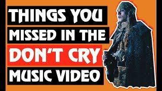 Guns N' Roses Things You Missed in the Don't Cry Music Video