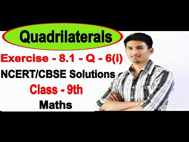 Chapter 8 Exercise 8.1 Question 6(i) - Quadrilaterals Class 9 Maths - NCERT Solutions