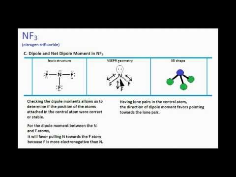 nf3 lewis structure and molecular geometry youtube rh youtube com nf3 lewis structure molecular geometry nf3 lewis structure lone pairs