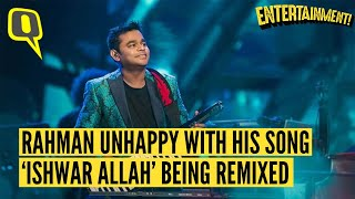 """Gambar cover EXCLUSIVE: """"They Killed My Song 'Ishwar Allah' by Remixing It"""" Says AR Rahman"""