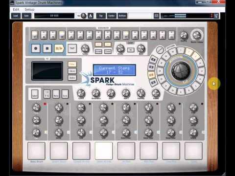 Arturia Spark Vintage DR-808 TR-808 Drum Machine VST Demo