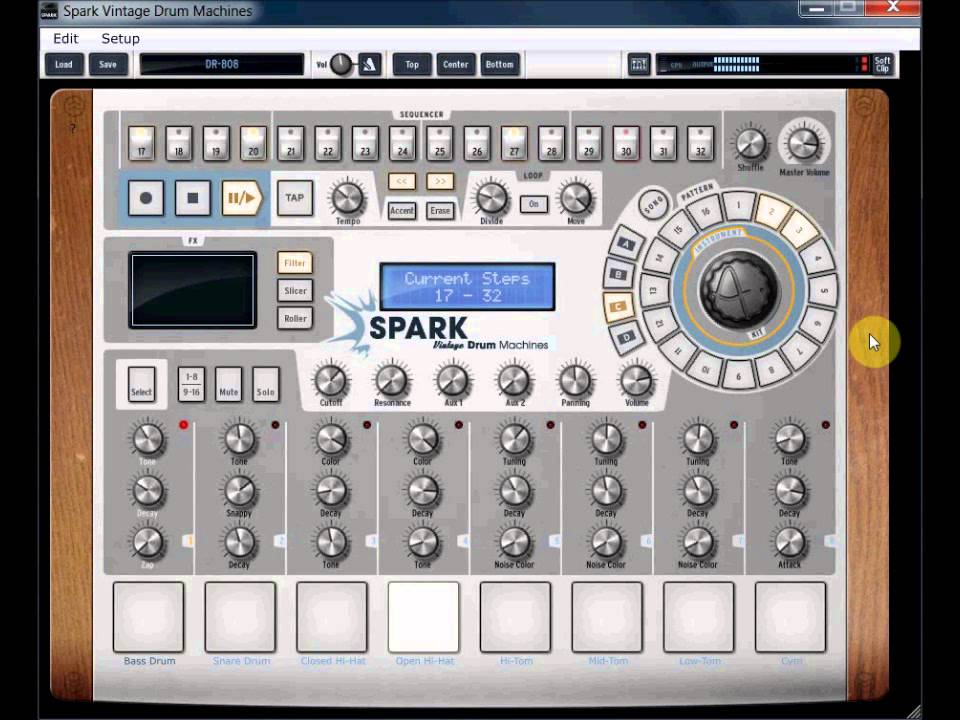 arturia spark vintage dr 808 tr 808 drum machine vst demo youtube. Black Bedroom Furniture Sets. Home Design Ideas