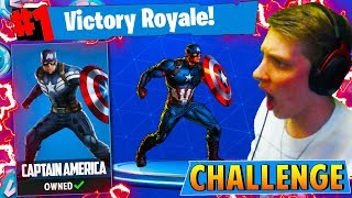 The CAPTAIN AMERICA CHALLENGE in Fortnite: Battle Royale