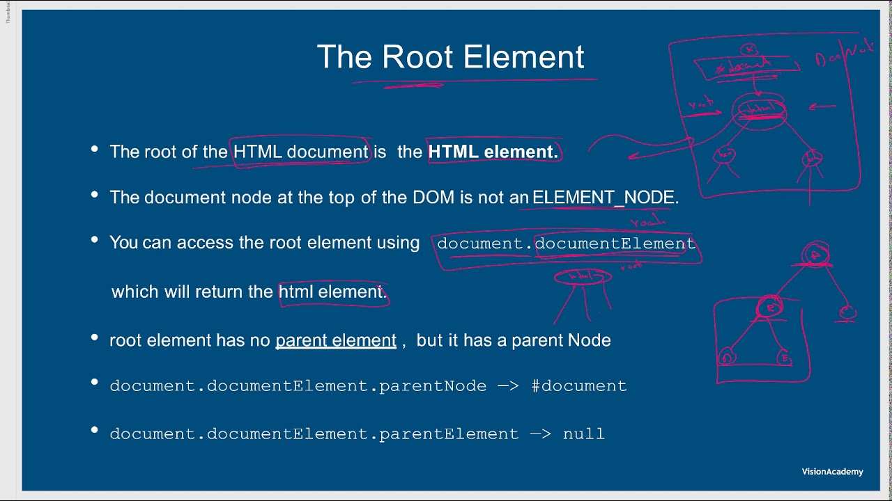6- The Root Element : شرح جافا سكريبت 2019