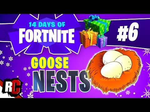 14 Days Of Fortnite - DAY 6 Waterside GOOSE NEST Locations (Finding 6 Goose Nests)