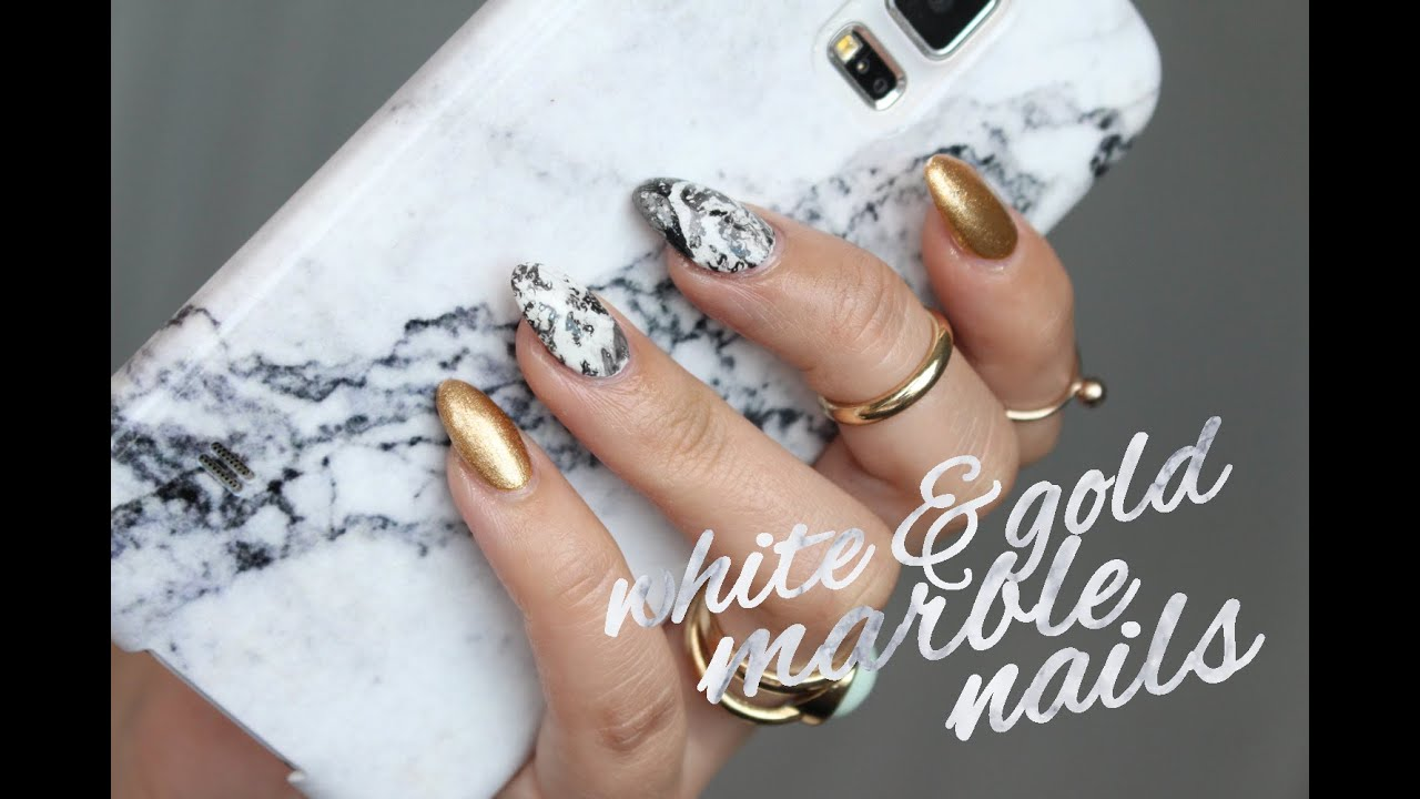 WHITE MARBLE NAILS TUTORIAL!