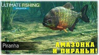 Амазонка и пираньи Ultimate Fishing Simulator Вечерний стрим