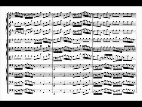 Johann Sebastian Bach: Brandenburg Concerto No.3 (Sheet Music)