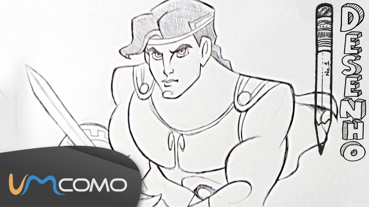 Desenhar O Hercules Do Filme Da Disney Youtube
