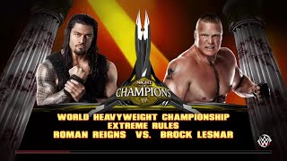 WWE 2K15- Brock lesnar vs Roman Reigns No DQ Match For World Heavyweight championship 2015 (PS4)