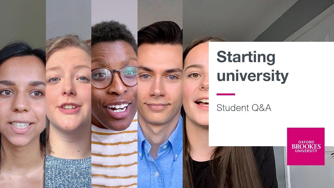Starting university – Student Q&A | Oxford Brookes University