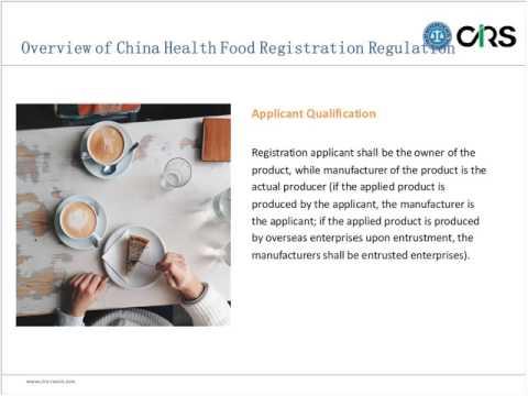 Free Webinar: Guidance on Health Food Registration