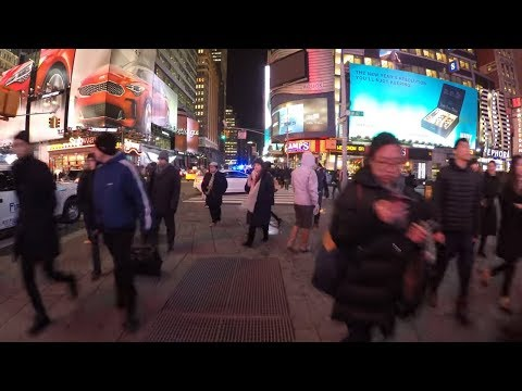 ⁴ᴷ Walking Tour of Times Square, NYC at Night
