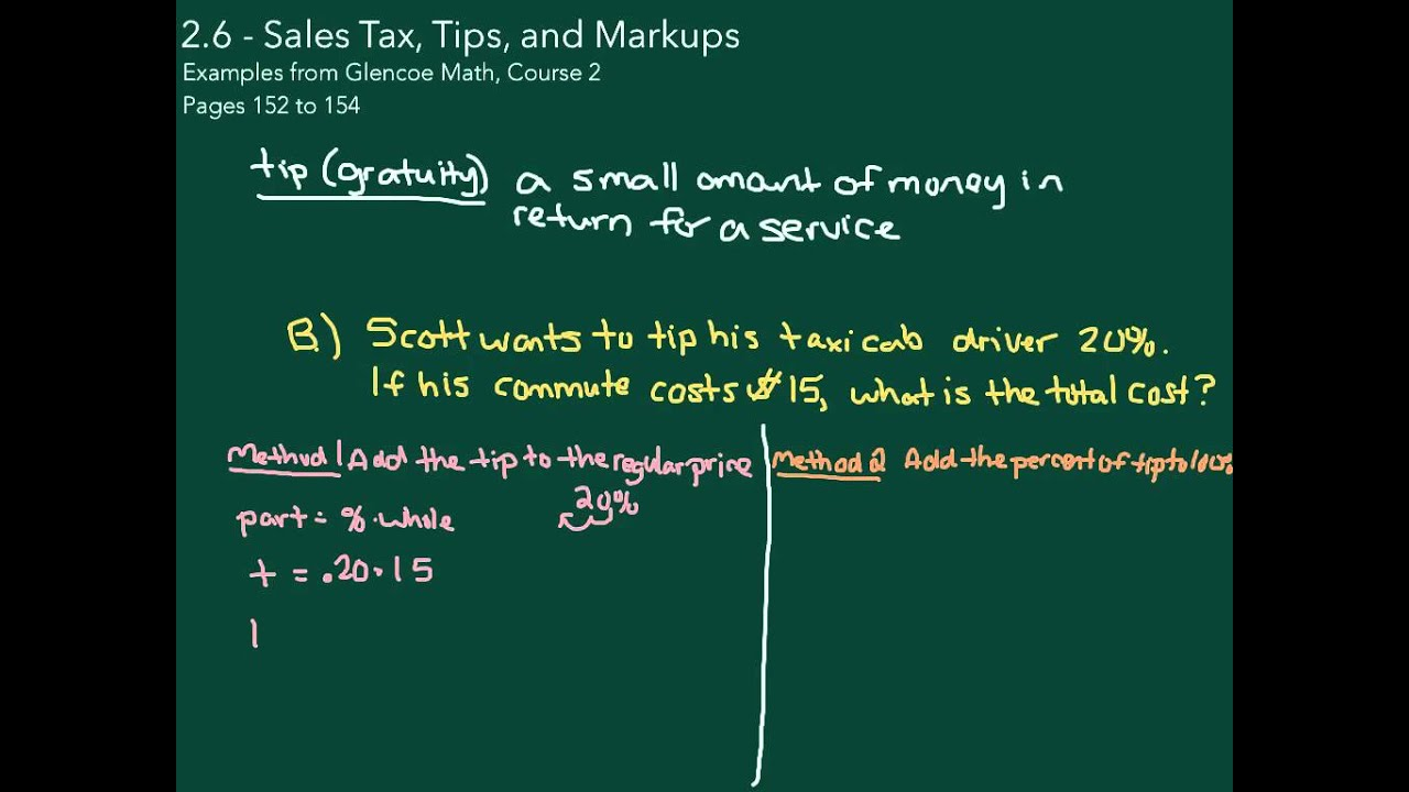 Sales Tax Tips And Markup