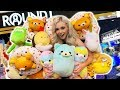 I WON EVERY PRIZE FROM THE CLAW MACHINE!! ROUND 1 ARCADE WINS!