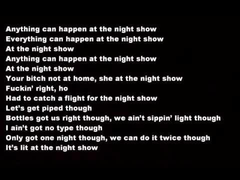 Travis Scott   Antidote Lyrics on screen