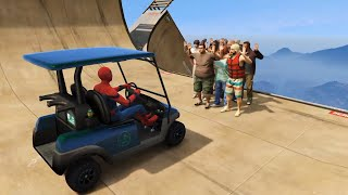 GTA 5 Water Ragdolls | SPIDERMAN Jumps/Fails #5 (Euphoria physics | Funny Moments)