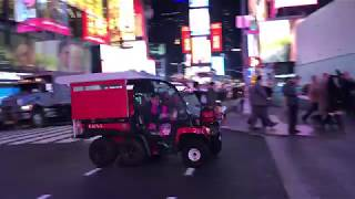 2 FDNY EMS GATORS RESPONDING URGENTLY ON WEST 44TH STREET IN TIMES SQUARE, MANHATTAN, NEW YORK CITY.