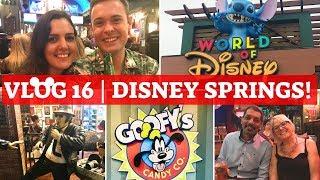 WALT DISNEY WORLD & UNIVERSAL 2018 VLOG 16 | Shopping, Dinner & Goofy Treats At Disney Springs!