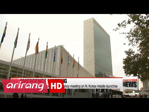 UN Security Council to hold emergency meeting on N. Korea missile launches
