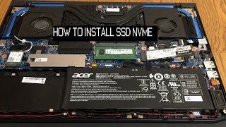 How to install SSD NVME on an Acer Predator Helios 300 (2019)