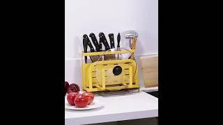 일체형 주방용품 정리 선반 수저통 나이프 홀더 4색