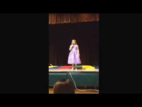 "Maddi sing ""Let It Go"" from Disney's Frozen Rustburg Elementary School Talent show 4/1/2014"