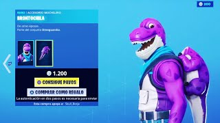 THE *NEW STORE* OF FORTNITE TODAY 4 OF AUGUST *NEW SKIN* OF BARNEY THE DINOSAURIO AND... 😍❤️