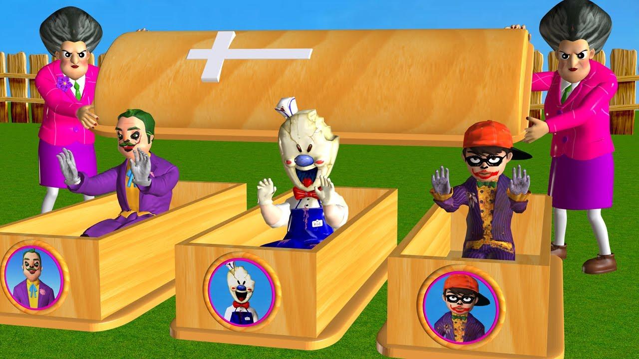 Scary Teacher 3D NickJoker Troll Miss T, Hello NeighborJoker, Ice Scream 4 Coffin Dance Compilation