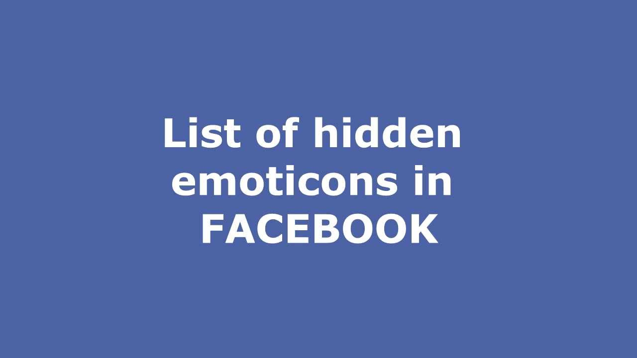 How To Make Custom Emoticons In Facebook Hidden Secret Smileys
