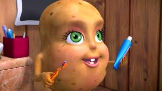 Aloo Potato Brushing Song | Telugu Rhymes for Children | Infobells