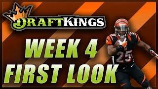 DRAFTKINGS WEEK 4 NFL FIRST LOOK LINEUP
