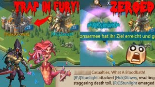 Solo Trap in fury gets zeroed by a 1 hit Rally | Lords Mobile