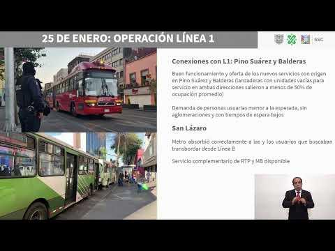 Avances en el restablecimiento del servicio del Metro; y servicios de apoyo; 25/01/21