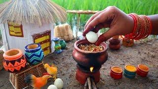 Miniature Egg Biryani   Egg Biryani recipe   FULL VIDEO - Mini Foodkey