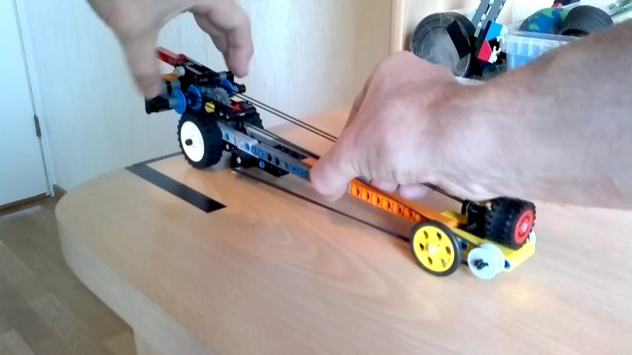 Lego rubberband Pullback Dragster, fast and dangerous