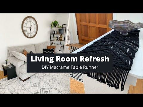 living-room-refresh-|-diy-macrame-table-runner
